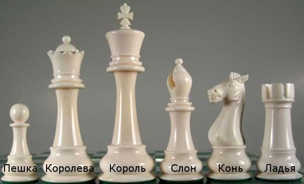 Название шахматных фигур с картинками
