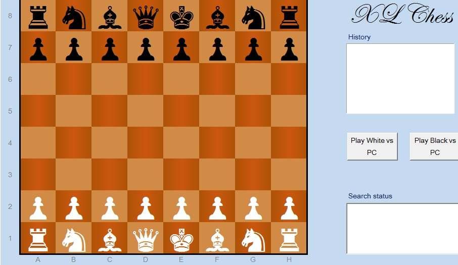 Шахматы Excel