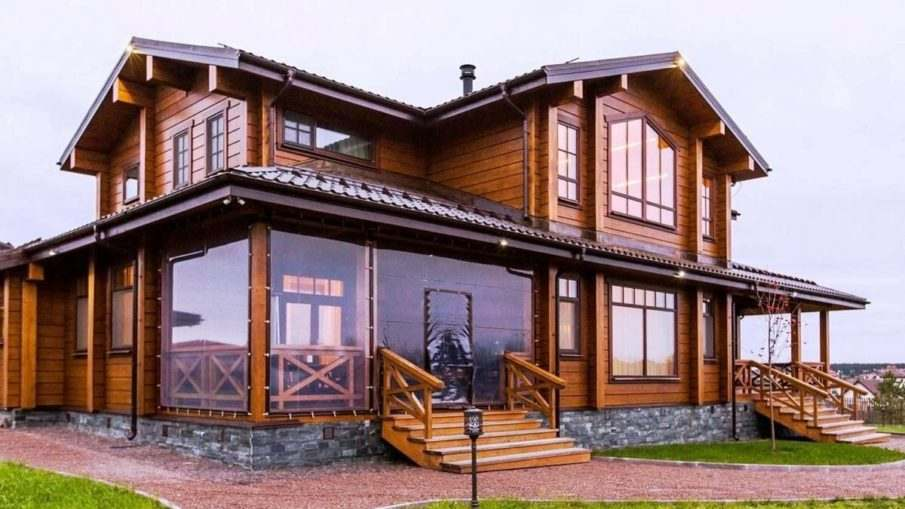 Строительство домов из клееного бруса